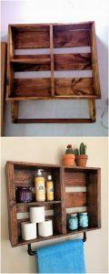 Pallet Bathroom Shelf or Towel Rack