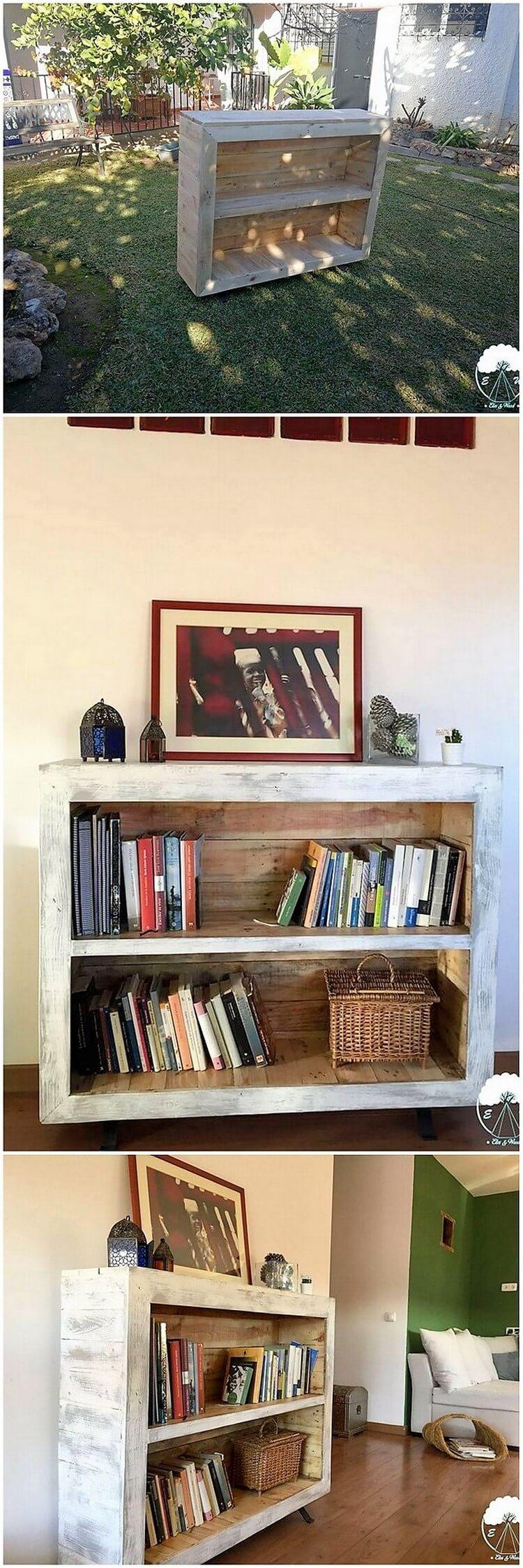 Pallet Bookshelving Cabinet