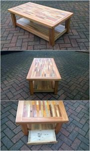Pallet Coffee Table with Storage Drawer