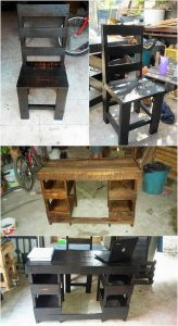 Pallet Computer Table and Chair