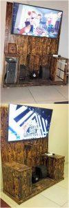 Pallet Entertainment Center