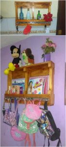 Pallet Wall Shelf or Coat Rack