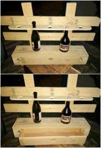 Pallet Wine Rack with Storage Drawer