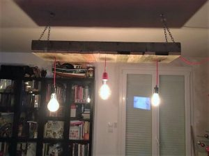 Recycled Pallet Chandelier