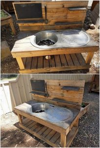 Recycled Pallet Sink