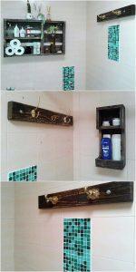 Pallet Bathroom Shelf