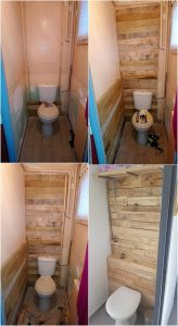 Pallet Bathroom Wall Paneling