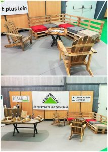 Pallet Corner Couch and Adirondack Chairs