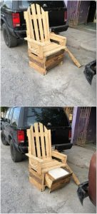 Pallet Chair with Storage Drawer