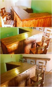 Pallet Counter Table and Chair