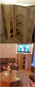 Pallet Media Corner Unit