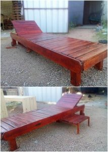 Pallet Sun Lounger with Side Table