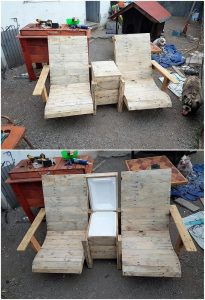 Pallet Chairs and Center Table