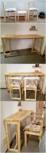 Pallet Chairs and Table