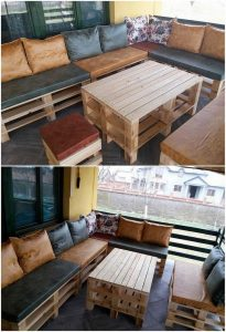 Pallet Couch and Coffee Table