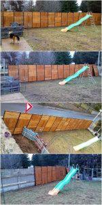 Pallet Garden Fence