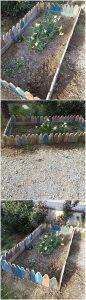 Pallet Herb Garden Fence