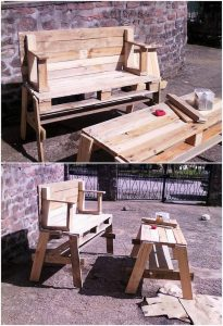 Pallet Outdoor Bench and Table