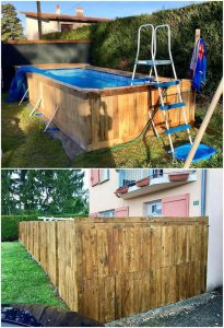 Pallet Swimming Pool and Wall