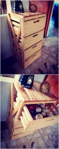 Pallet End Table with Drawer