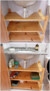 Pallet Sink with Shelves