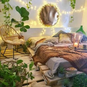 45+ Romantic Bohemian Bedroom Decor Ideas