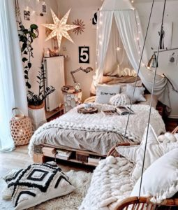 Bohemian Bedroom Decor Design (13)
