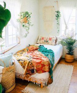 Bohemian Bedroom Decorating (25)