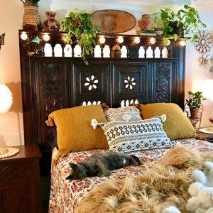 Bohemian Style Beautiful Bedroom Design (1)