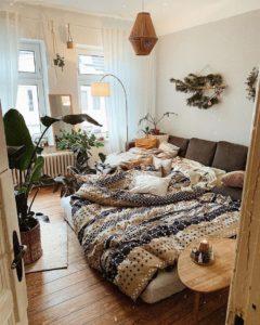 Bohemian Style Beautiful Bedroom Design (11)