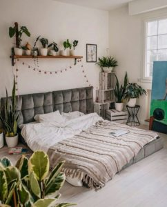 Bohemian Style Beautiful Bedroom Design (15)