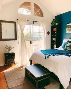 Bohemian Style Beautiful Bedroom Design (22)