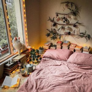 Bohemian Style Beautiful Bedroom Design (28)