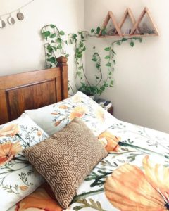 Bohemian Style Beautiful Bedroom Design (7)