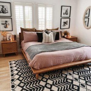 Bohemian Style Beautiful Bedroom Design (9)