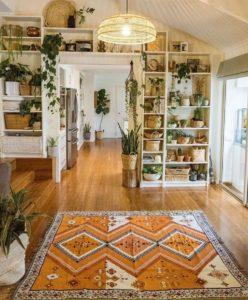 Elegant Bohemian Home Interior Decor Design (48)