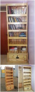 Pallet-Bookshelving-Cabinet-with-Drawer